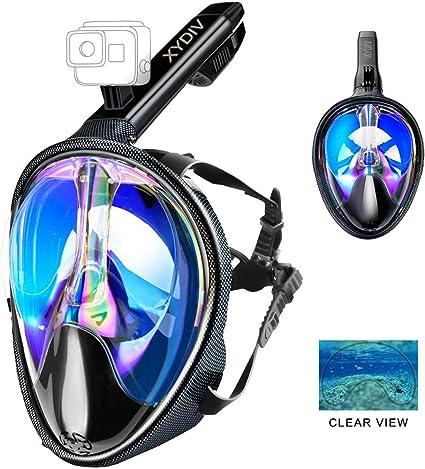 HD Camera Full Face Diving Mask 180 Seaview Snorkel Mask Panoramic Diving Set