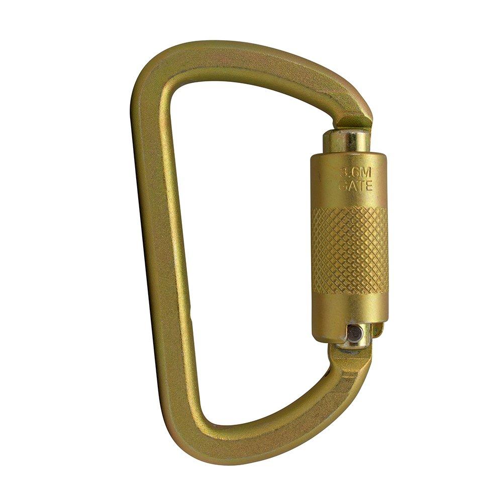 Fusion Climb Mayan Steel Auto Lock Key Nose High Strength Captive Eye Carabiner 10-Pack FP-9103-PKHS-GLD-10P