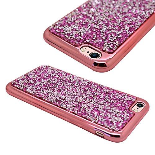 SAMRICK Kristall metallic Bumper Slimline Gel Schutz Hülle für Apple iPhone 6/6S–Rose Gold