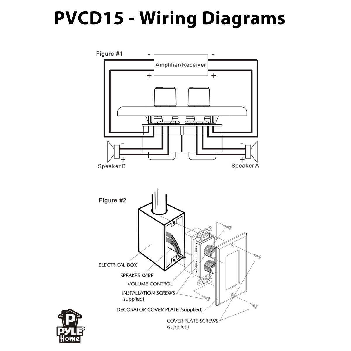 61Ncb6E88oL._SL1200_ amazon com pylehome pvcd15 in wall two right and left speaker home theater speaker wiring diagrams at fashall.co