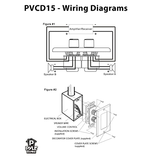 ceiling speaker volume control wiring diagram ceiling amazon com pylehome pvcd15 in wall two right and left speaker on ceiling speaker volume control