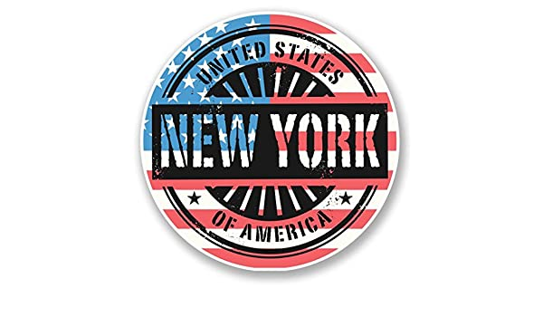 2 x New York USA America Vinyl Sticker Laptop Travel Luggage Car #6049