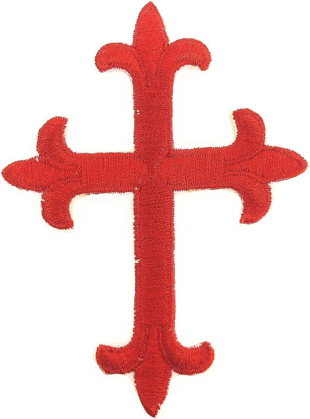 di/ámetro de 8 cm MAREL Parche de Cruz templaria termoadhesiva r/éplica