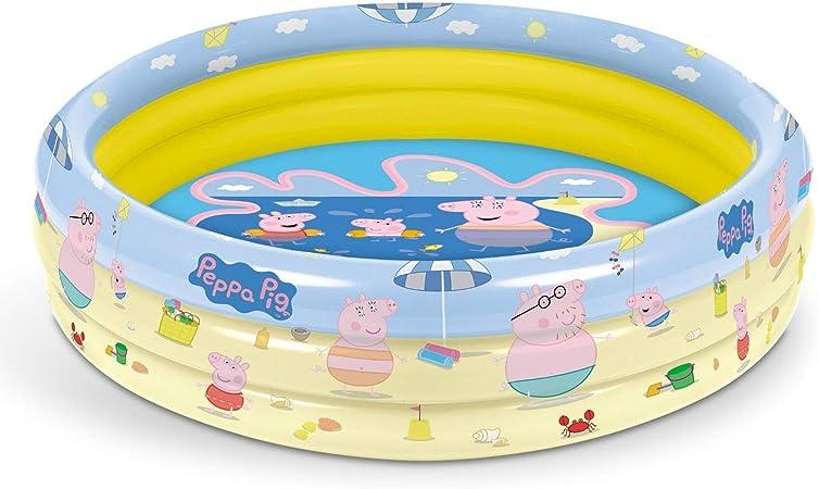 Mondo Toys – Peppa Pig | 3 Rings Pool – Piscina Hinchable para niños con 3 Anillos – Diámetro 100 cm – Capacidad 84 l – 16642: Amazon.es: Juguetes y juegos
