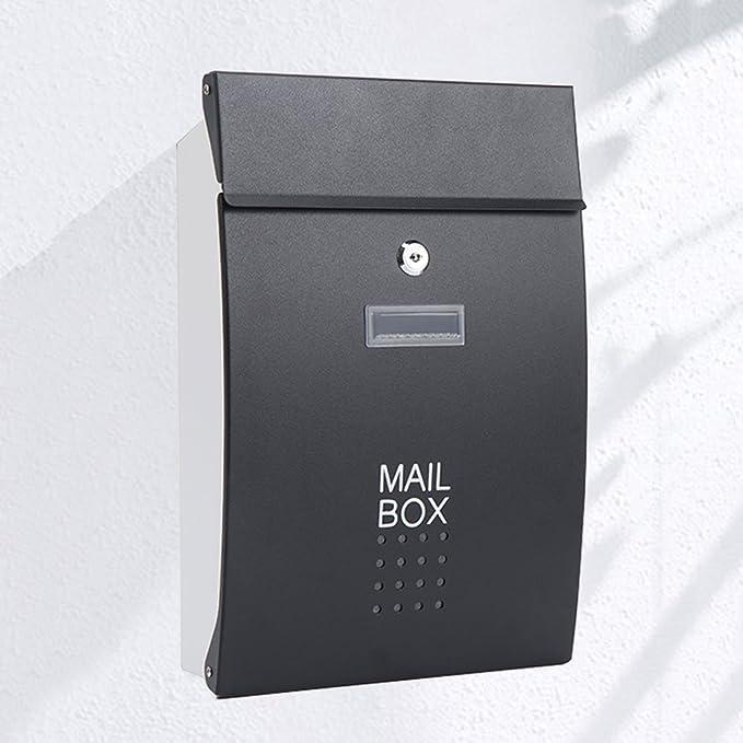 Correo electrónico cuadro de la pared exterior de acero inoxidable cajas de periódico buzón con llave, gerente general de los casos notificados (Color ...