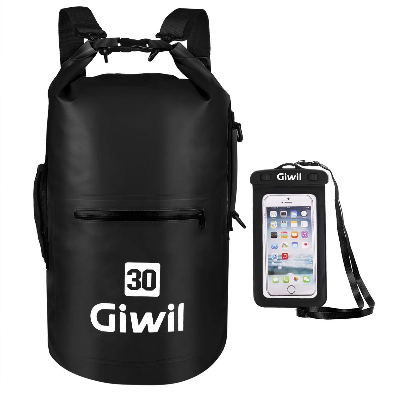 Resistente al agua seco bolsa 10l 20L 30L con doble correas ...