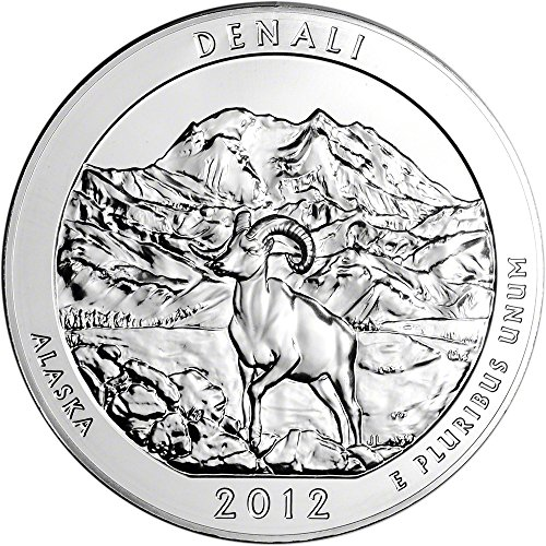 2012 ATB Silver (5 oz) Denali Quarter Brilliant Uncirculated US Mint