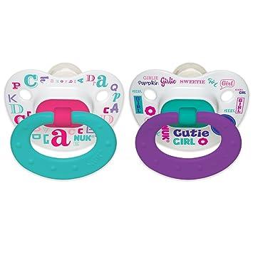 Amazon.com: NUK Baby Talk ortodoncia chupete, 0 – 6 meses, 2 ...