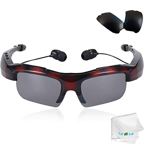 56dfdfff77c Bluetooth Glasses Headphone Stereo Music Bluetooth Sunglasses Polarized  Glasses Wireless Headset Microphone Compatible with Android IOS