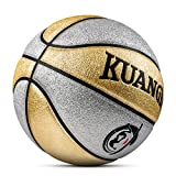 Kuangmi Multi-color Basketball for Junior Kids Child Boys Girls Size 5 27.5' (Gold and silver)