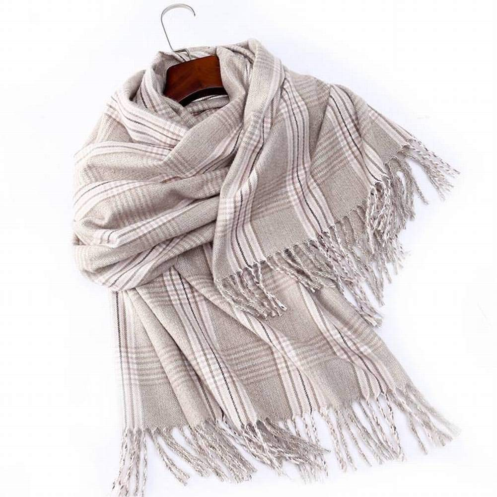 MTX Ltd Decoration Elegant Lady Gradient Color Silk Wool Female Decoration Ltd Flower Lengthened Silk Scarf Otoño and Invierno Outdoor Multi-Functional Fgreyion Trend Wild Warm Shawl Scarf Gift 9022bb
