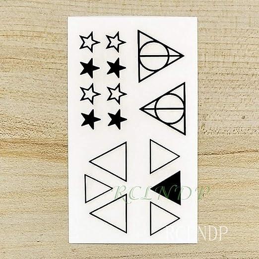 ljmljm 5 Piezas Tatuaje Impermeable Estrella de Cinco Puntas ...