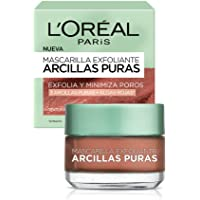 L'Oreal Paris Mascarilla Exfoliante, Arcillas Puras, 40 ml