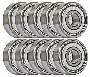 10 Bearing 5x10 Shielded 5x10x4 Miniature Ball Bearings