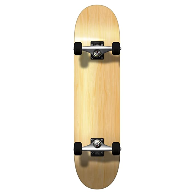 Yocaher Blank and Checker Pro Complete Skateboard 7.75