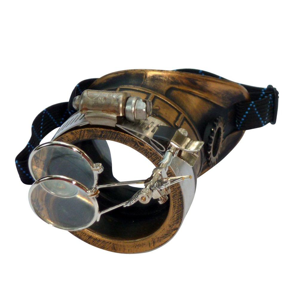 UMBRELLALABORATORY Men's Steampunk Victorian Monocle Clear Lens Left Eye B00J3AM7LS