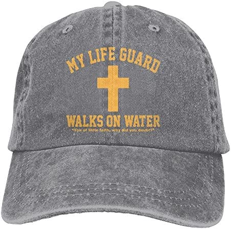 007d7b2e549 Men And Women My Life Guard Walks On Water Christian Vintage Jeans Baseball  Cap