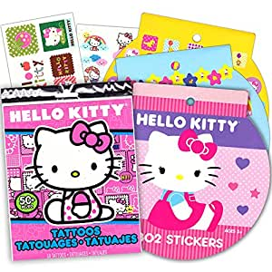Hello Kitty Stickers & Tattoos Party Favor Pack (216 Stickers & 50 Temporary Tattoos)