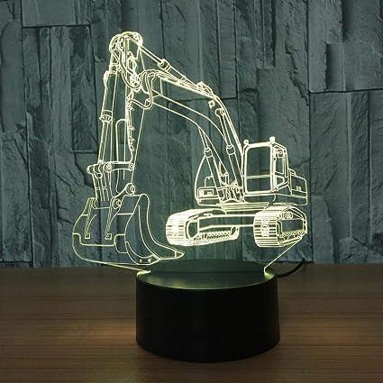 Herramienta de excavación carro 7 luces visión 3d luces de noche ...