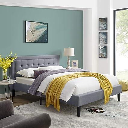 Amazon Com Mornington Upholstered Platform Bed Headboard And