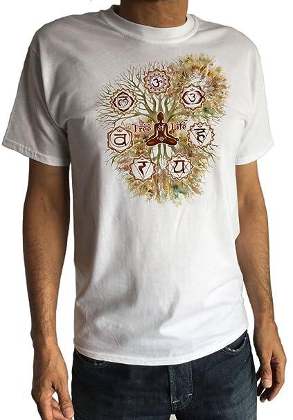 Irony Camiseta Hombre Tree of Life Buda Yoga Meditación ...