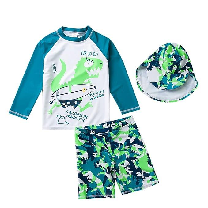 Amazon.com: Para niños dinosaurio de dos piezas traje de ...