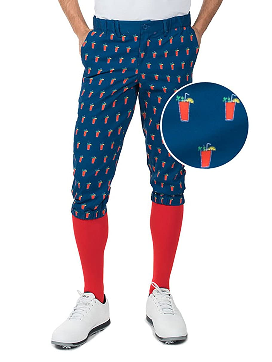 d3ce564b561ae Amazon.com: Men's Loud Golf Knickers and Socks - Traditional Retro Bright  Golf Pants: Clothing