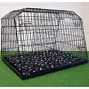 "Pet World UK 38"" SLOPING CAR DOG CAGE ESTATE CAGES TRAVEL 4x4 BOOT CRATE PUPPY GUARD EST38LL 12"