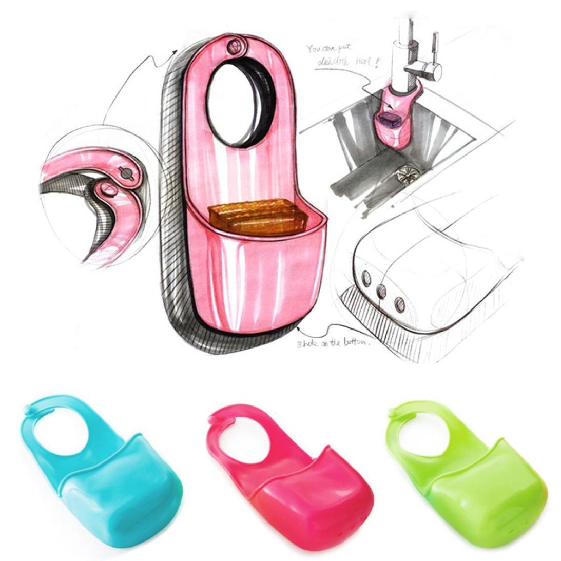 Malloom/® 3 pcs Creativo plegable silicona Cocina Hanging Ba/ño bolsa de almacenamiento