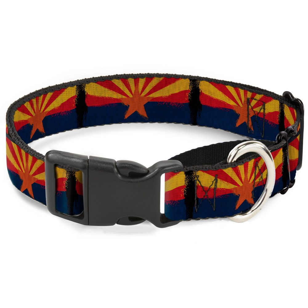 Buckle-Down Arizona Flag Distressed Painting Martingale Dog Collar, 1  Wide-Fits 9-15  Neck-Small