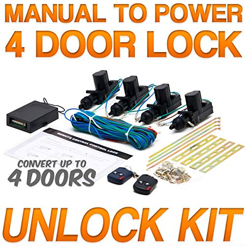 [Biltek® Universal Central Door Lock and Unlock Conversion Kit for 2, 3, 4 car truck doors 4 actuators] (4 Door Truck)