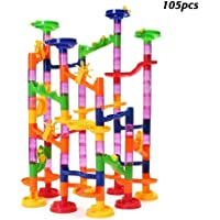 105 piezas Juego Pista de Canicas Marble Run Juguetes de bloques de construcción Juego de educación para niños