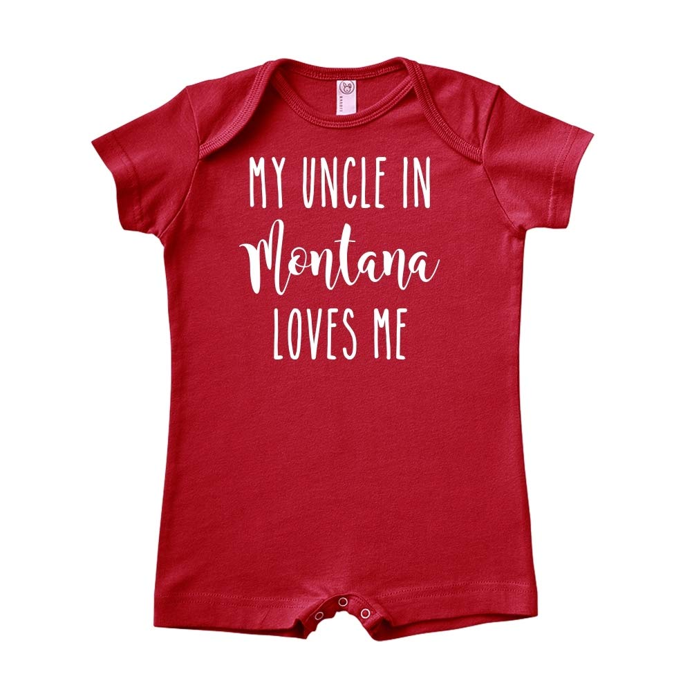 Baby Romper My Uncle in Montana Loves Me