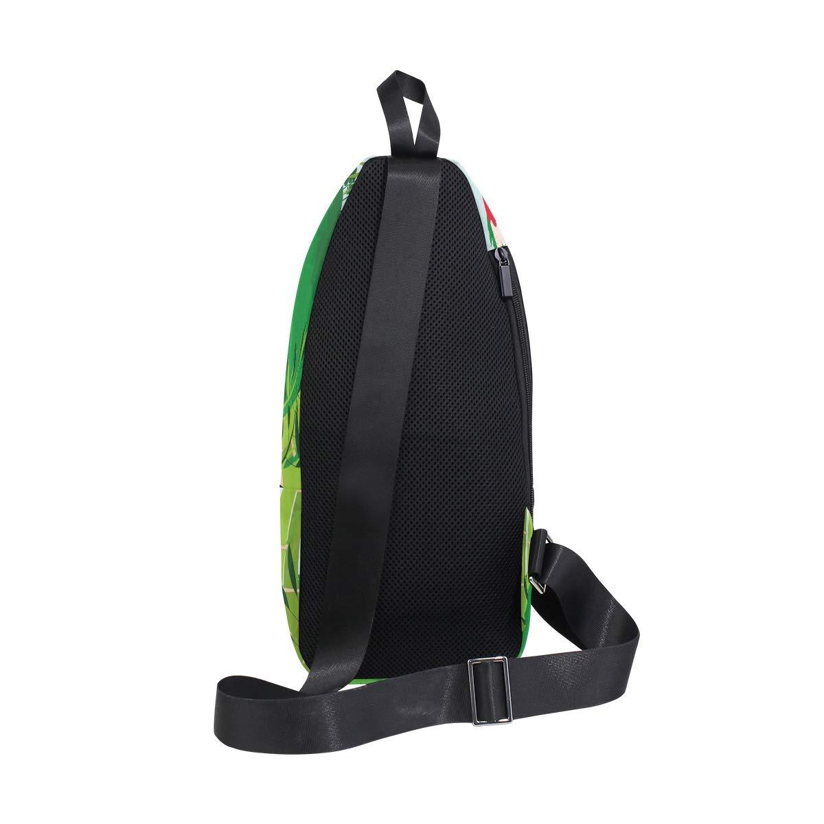 TFONE Forest Cute Animal Parrot Crossbody Bag Lightweight Chest Shoulder Messenger Pack Backpack Sling Bag