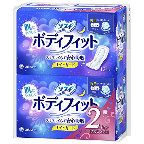 japan-personal-care-sophie-body-fit-night-guard-without-wings-for-the-night-12-pieces-2-pack-af27