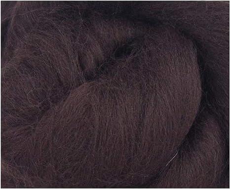Lana merino para hilar (50 g), color marrón oscuro, ideal para ...