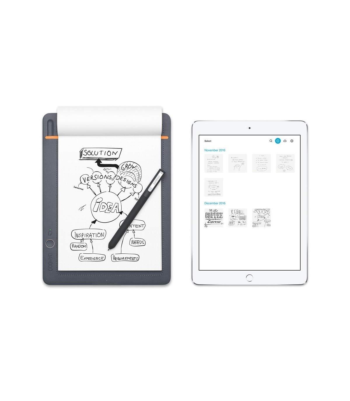 Wacom CDS-610S Bamboo Slate A5 Cuaderno digital para apuntes y dibujo / Cuaderno de notas inteligente / Compatible con dispositivos iOS, Android y ...
