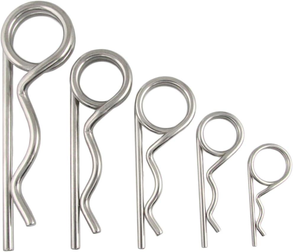1 St/ück aus Edelstahl A4 BOOTSTEILE BRAUER/® - Stecker//Splint Federstecker doppelt 2,25 x 54 mm -