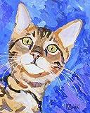 Bengal Cat Fine Art Print on 100% Cotton Watercolor Paper