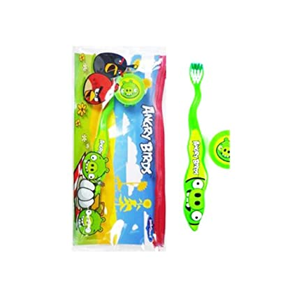 Angry Birds Smile Guard Travel Toothbrush [Green Pig ...