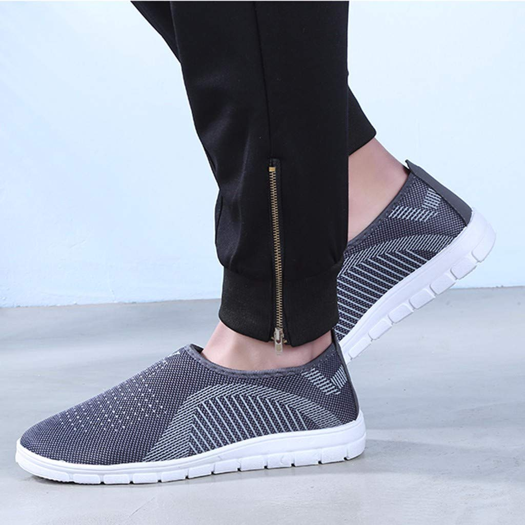 RAINED-Men Loafers Casual Slip-On Sport Shoes Sneaker Athletic Walking Shoes Mesh Lightweight Breathable Fitness Sho