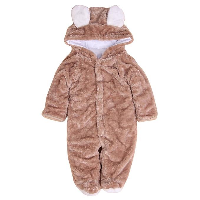 MIKIKIDS Pijama animal traje mono jumpsuit disfraz de oso infantil pelele para bebé niño niña-
