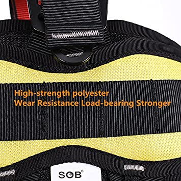 Outdoor Professional Rock Climbing Full Body Safety Belt Harnesses Anti Fall Protective Gear Safe Seat Belts Outward Band Fire Rescue Safe Harness For Mountaineering Rappelling Equip XINDA