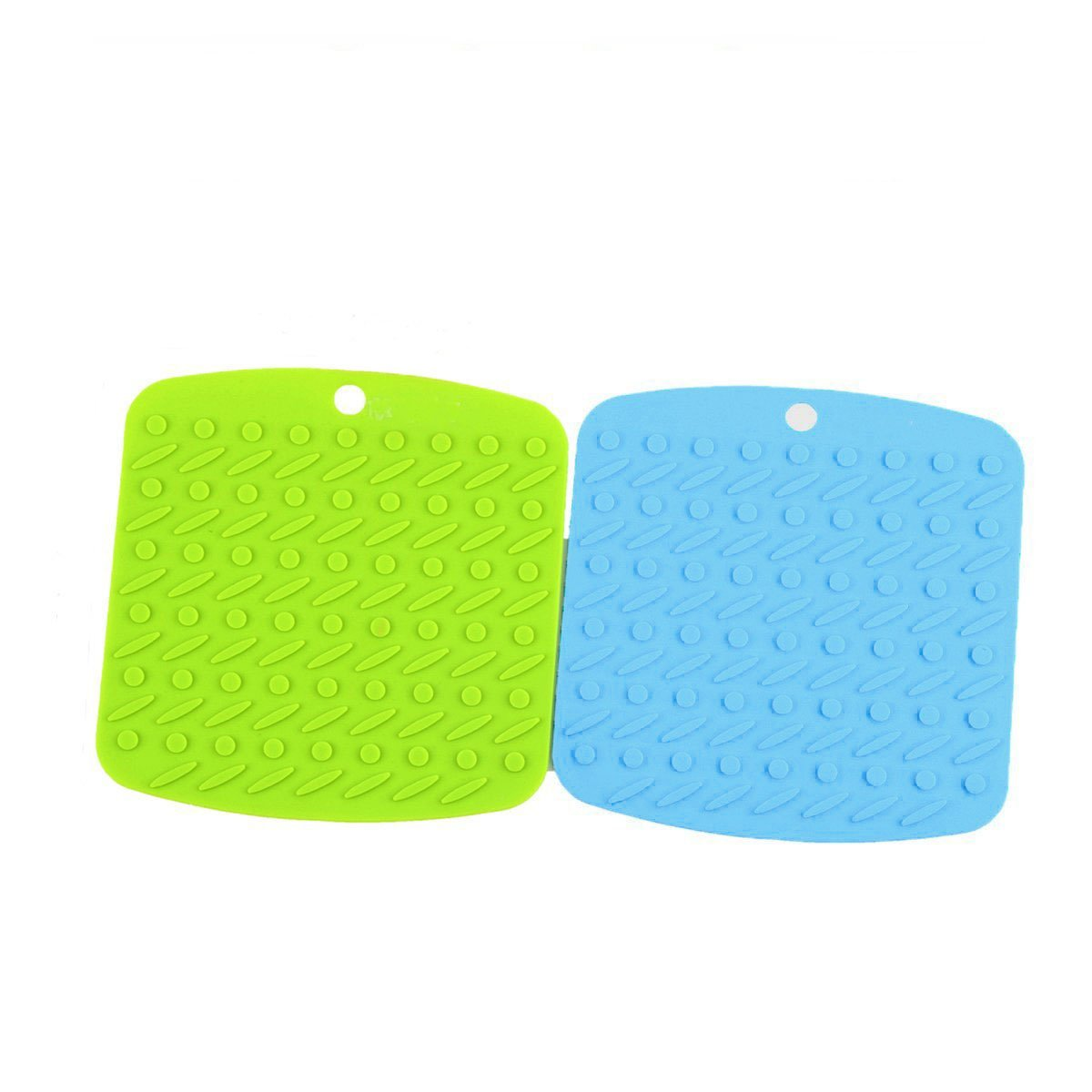 Silicone Pot Holders, Silicone Drying Mat, Trivets, Jar Openers, Non Slip Heat Resistant Hot Pads, Heat Resistant to 450 °F, 2 PCS