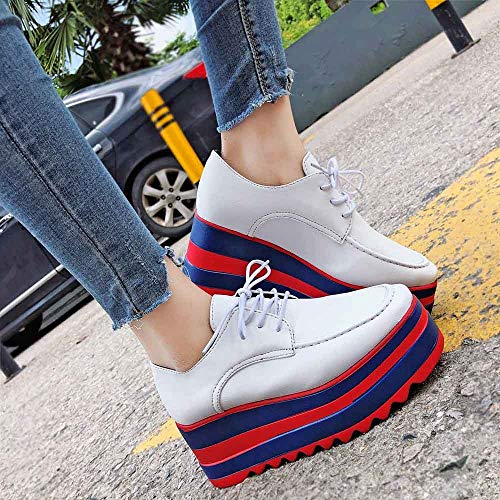 Shoes Lace Colors Increase Up Single Sole Casual WomenMixed Shoes High Students vAZ6nanwxB