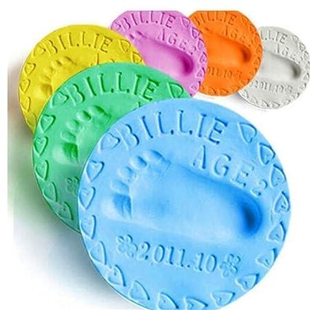 Soft Baby Care Air Drying Clay Baby Handprint Footprint Imprint Kit Casting
