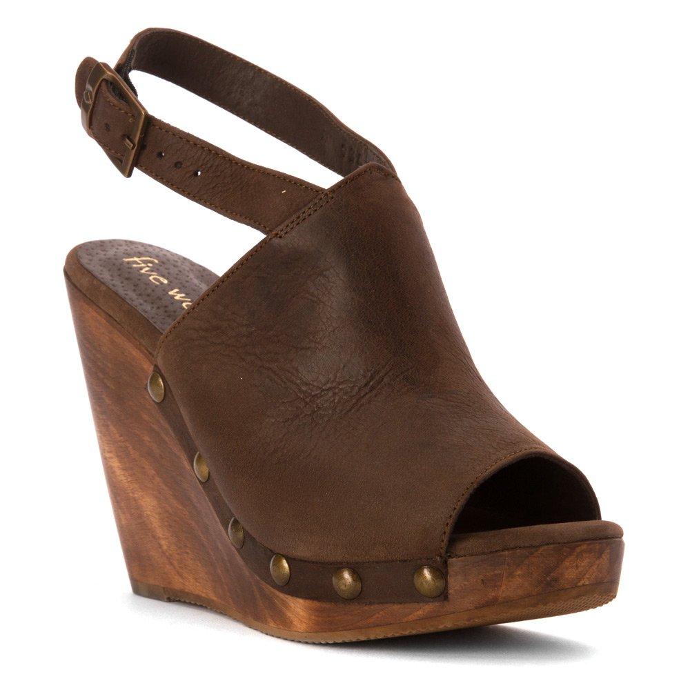 Five Worlds by Cordani Women's Manzanillo Platform Sandal B0128MBAOC 41 (US Women's 10) M Walnut Nubuck