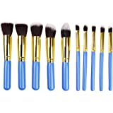 STELLAIRE CHERN Makeup Brushes 10 Piece Makeup Brush Set Premium Synthetic Foundation Blending Brush Face Powder Blush Concealers Eye Shadows Make Up Brushes Kit