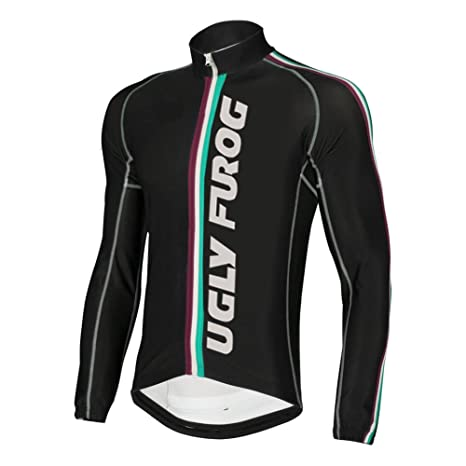 36f472a17 Image Unavailable. Image not available for. Color  Uglyfrog 2016 Newest Mens  Sports Wear Outdoor Sports Long Sleeve Cycling Jersey ...
