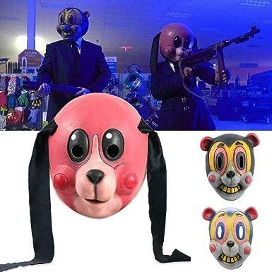 The Umbrella Academy Hazel Mask Cosplay Latex Helmet TV Halloween Unisex Prop